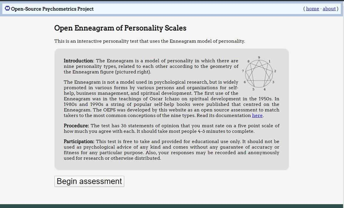 open source psychometrics enneagram