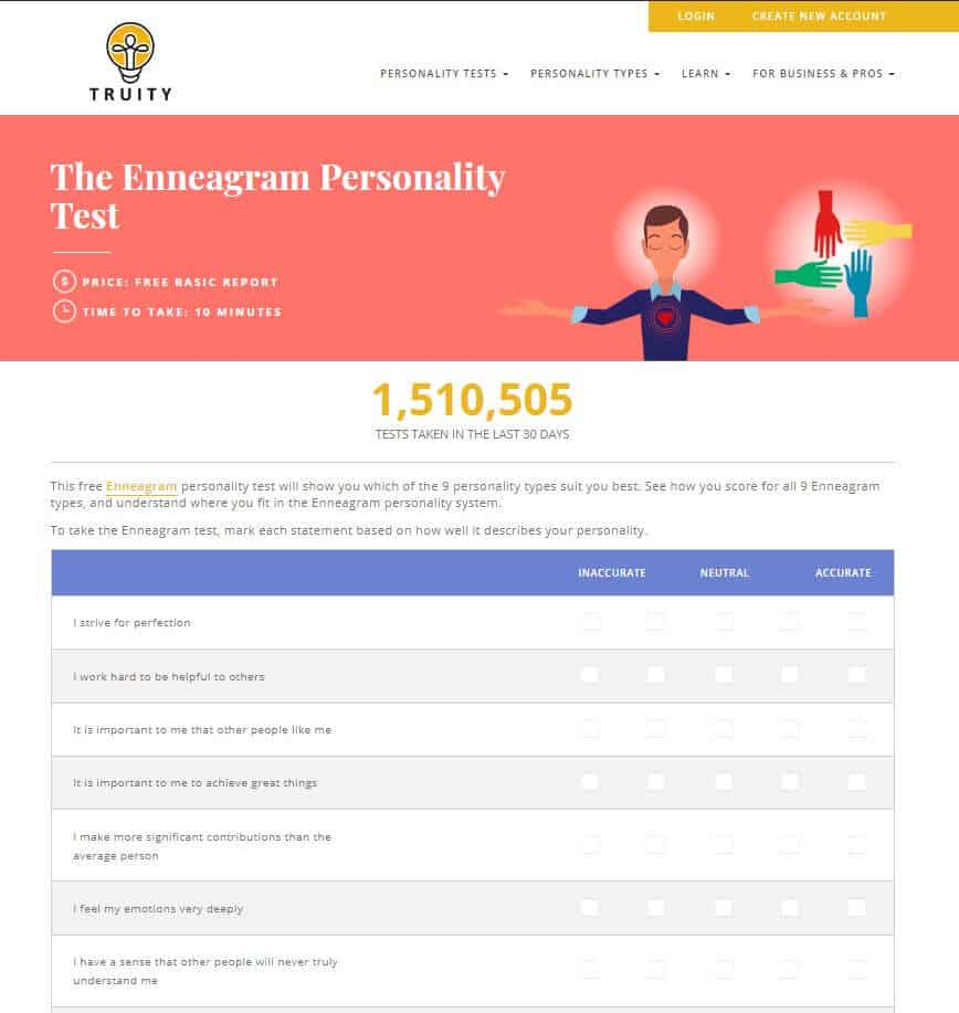 personality test enneagram free  »  8 Picture »  Awesome ..!
